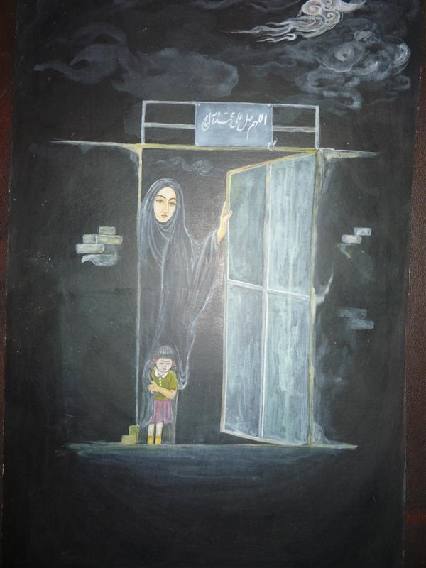 هنر نقاشی و گرافیک محفل نقاشی و گرافیک غلامرضا نوبخت انتظار- اکریلیک-20*30