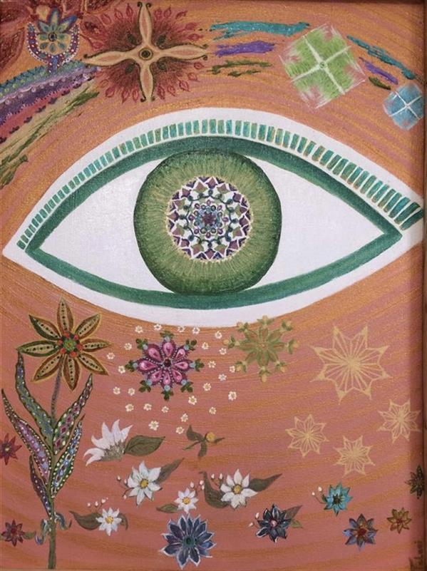 هنر نقاشی و گرافیک محفل نقاشی و گرافیک نازیلا طلایی شهیر این داستان: چشم نظر *این اثر اورجینال و فاقد هرگونه الگوبرداری است* متریال: رنگ روغن ابعاد: 30*40 #چشم #خدا #چشم_نظر #الهه