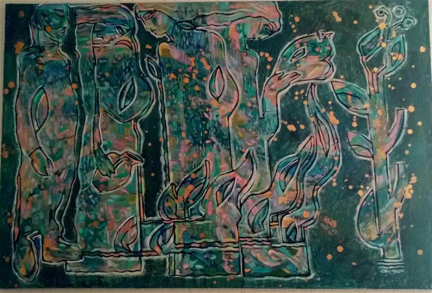 هنر نقاشی و گرافیک محفل نقاشی و گرافیک میلان مرادی  نام اثر : زن هنرمند: استاد فردین صادق ایوبی  آبرنگ 1/30 در 50