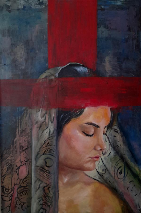 هنر نقاشی و گرافیک محفل نقاشی و گرافیک مرضیه اعظمی نام اثر صلیب رنگ روغن روی بوم