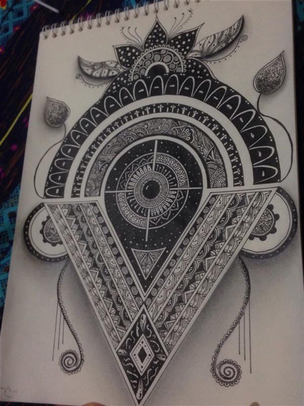 هنر نقاشی و گرافیک محفل نقاشی و گرافیک نگین قیمی ماندالا_راپید سایز:A3