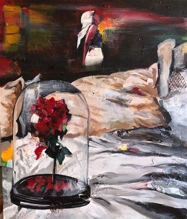 هنر نقاشی و گرافیک محفل نقاشی و گرافیک سمیرا منصوری خدا#رهایی#عشق#گذر#زیبا# اکریلیک  روی بوم  ۵۰*۵۹