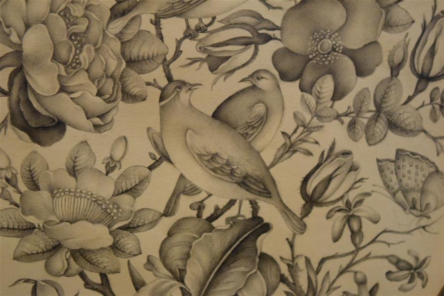 هنر نقاشی و گرافیک محفل نقاشی و گرافیک سولماز راشدزاده جزییات#گل_مرغ با پرداز مرکب
