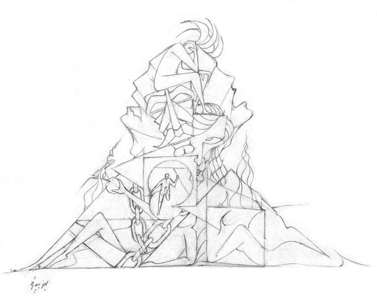 هنر نقاشی و گرافیک محفل نقاشی و گرافیک بهمن بیدقی #کوه خاطرات