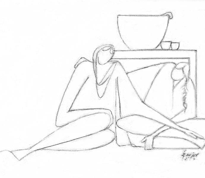 هنر نقاشی و گرافیک محفل نقاشی و گرافیک بهمن بیدقی #درد و دل خواهرانه