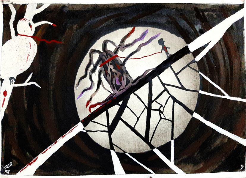 "هنر نقاشی و گرافیک محفل نقاشی و گرافیک حسین تاکی نام اثر : ""کمپانی"" #آبرنگ #مقوا 25x17"