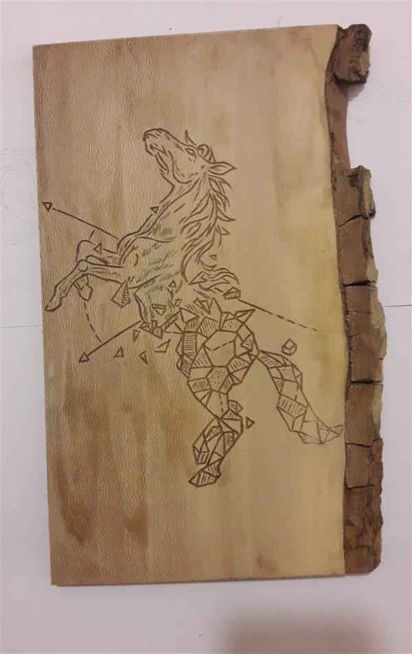 هنر نقاشی و گرافیک محفل نقاشی و گرافیک جلال کریمی متریال چوب چنار  کنده کاری شده