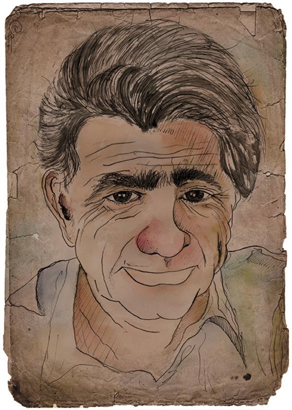 هنر نقاشی و گرافیک محفل نقاشی و گرافیک رویا جعفری تصویرسازی کاریکاتوری استاد محمدرضا شجریان ابعاد: 20 در 30 تکنیک: #آبرنگ #قلم فلزی