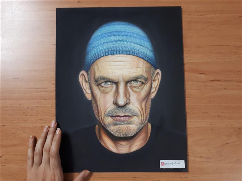 هنر نقاشی و گرافیک محفل نقاشی و گرافیک مبیناجویباری #پرتره#هایپررئال#مدادرنگی
