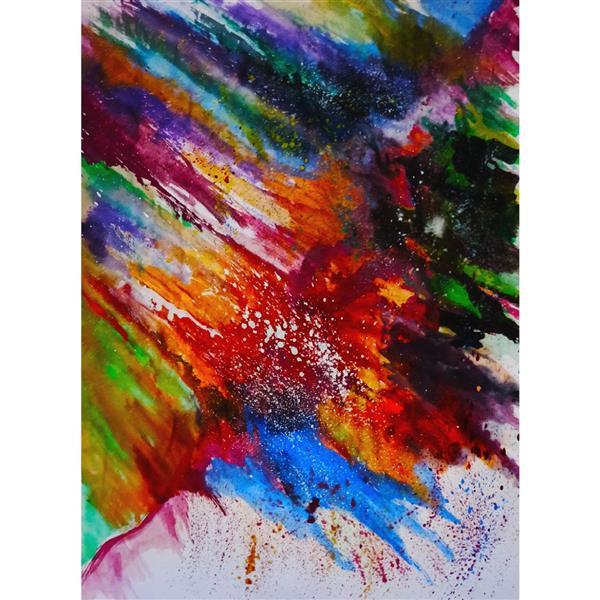 هنر نقاشی و گرافیک محفل نقاشی و گرافیک حنانه  آبرنگ و گواش #طبیعت #گواش #آبرنگ #نقاشی #حنانه