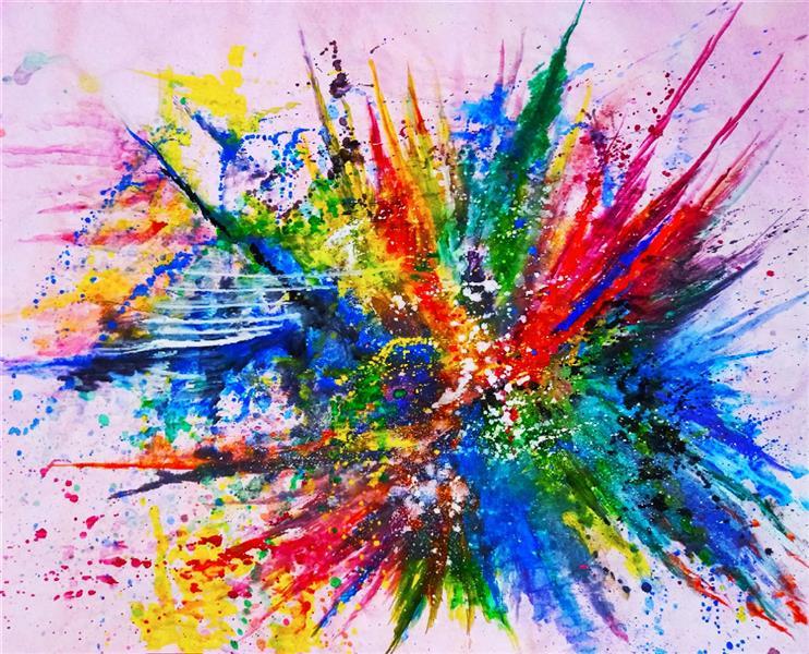 هنر نقاشی و گرافیک محفل نقاشی و گرافیک حنانه  آبرنگ و گواش آبستره #طبیعت #گواش #آبرنگ #نقاشی #حنانه
