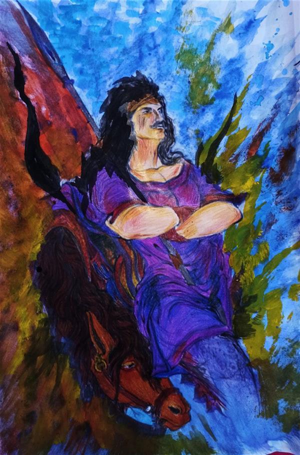 هنر نقاشی و گرافیک محفل نقاشی و گرافیک حنانه  تابلو مینیاتور ابعاد ۳۰×۴۰ با مدادرنگی و گواش و آبرنگ  #گواش #مداد_رنگی #نقاشی #تابلو #مینیاتور #حنانه