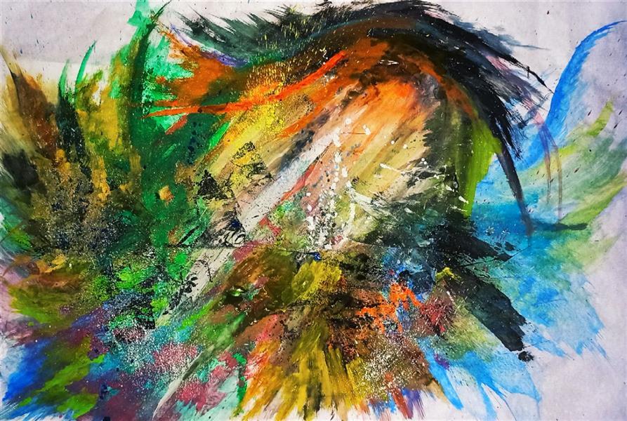 هنر نقاشی و گرافیک محفل نقاشی و گرافیک حنانه  ابعاد ۱۰۰×۷۰ اکسپرسیونیسم انتزاعی ، نقاشی آبستره  #آبستره #اکسپرسیونیسم_انتزاعی #نقاشی #هنر #حنانه