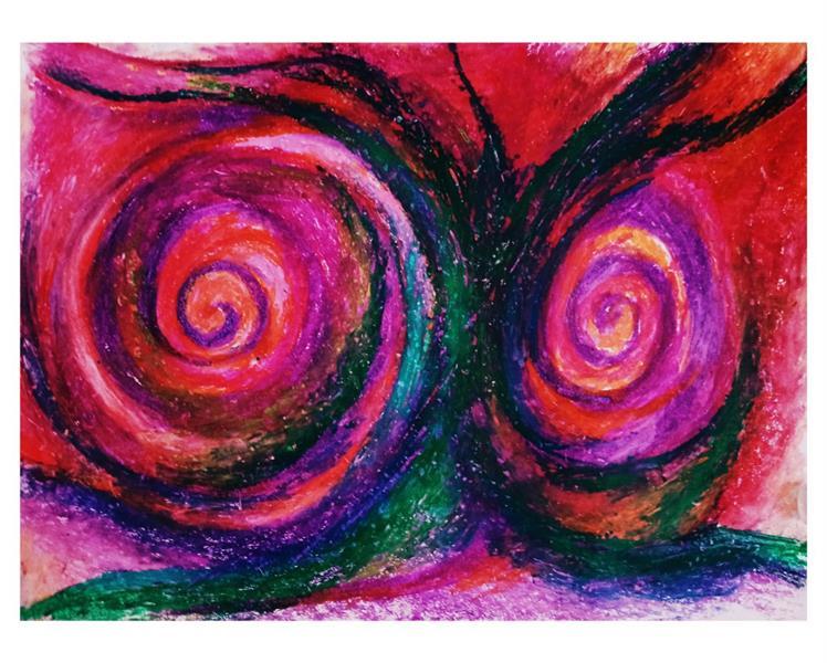 هنر نقاشی و گرافیک محفل نقاشی و گرافیک حنانه  نقاشی با پاستیل هنر انتزاعی  انتزاعی ، نقاشی آبستره #اکسپرسیونیسم_انتزاعی #نقاشی #هنر #حنانه