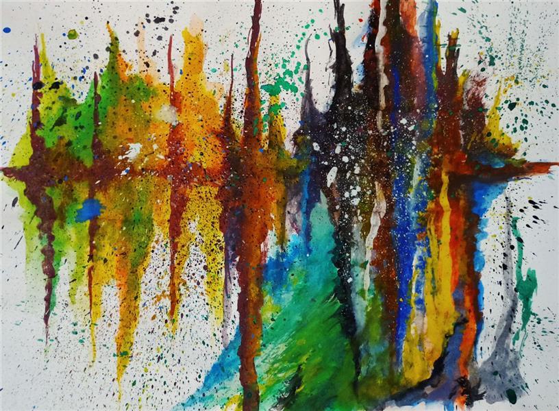 هنر نقاشی و گرافیک محفل نقاشی و گرافیک حنانه  اکسپرسیونیسم انتزاعی ، نقاشی آبستره  #آبستره #اکسپرسیونیسم_انتزاعی #نقاشی #هنر #حنانه