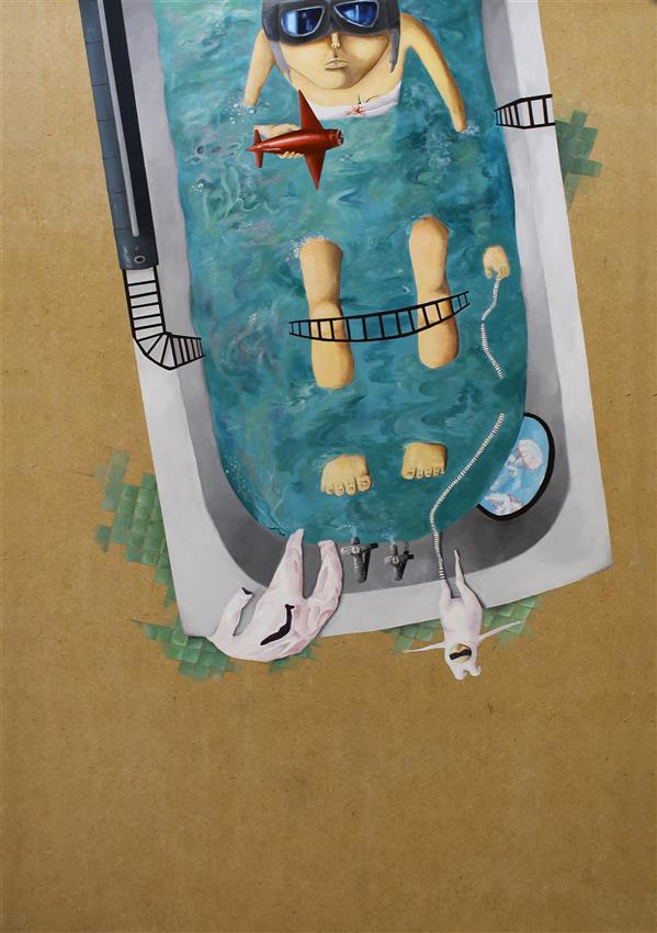 هنر نقاشی و گرافیک محفل نقاشی و گرافیک هدی حسنی #فروخته_شد تصویرسازی - اکریلیک روی شاسی آبرنگ اندازه: 50. 70 اثر ارائه شده در گالری سیحون