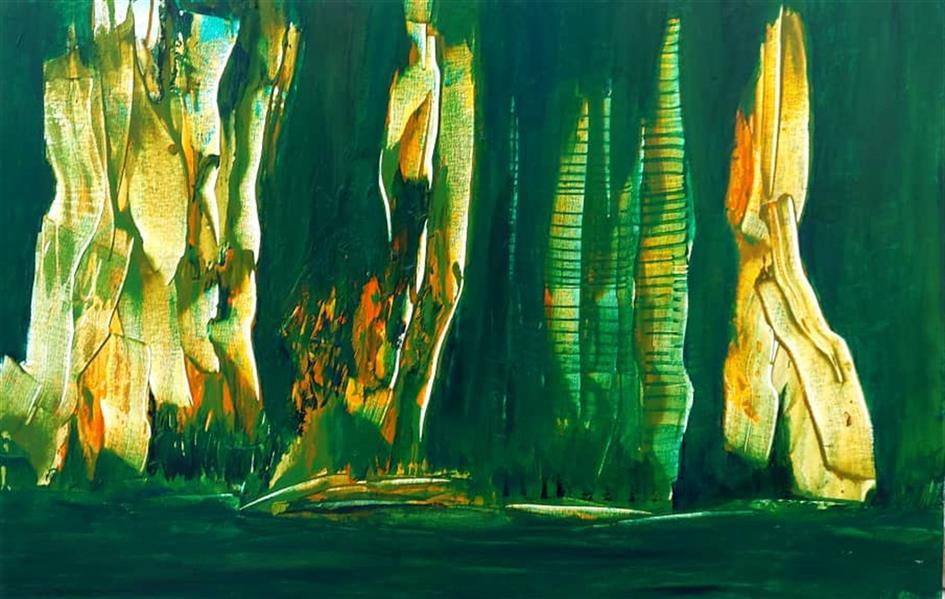 هنر نقاشی و گرافیک محفل نقاشی و گرافیک نگارخانه نگر صدف کباری Sadaf Kobari Mixed media on canvas