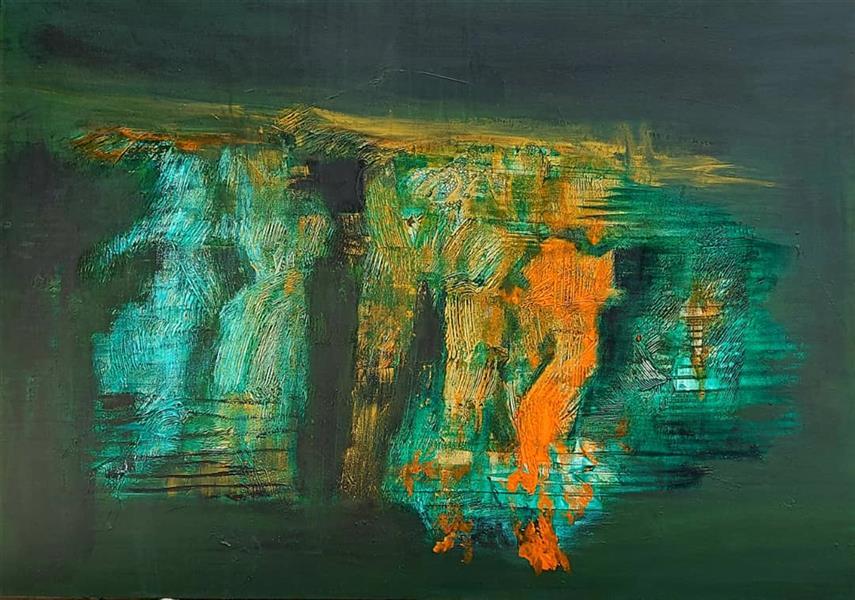 هنر نقاشی و گرافیک محفل نقاشی و گرافیک نگارخانه نگر صدف کباری Sadaf Kobari Mixed media on canvas                                                      B131-25