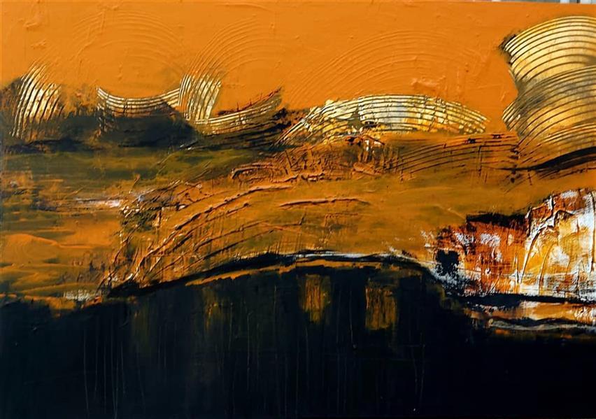 هنر نقاشی و گرافیک محفل نقاشی و گرافیک نگارخانه نگر نام هنرمند: صدف کباری Sadaf Kobari Mixed media on Canvas