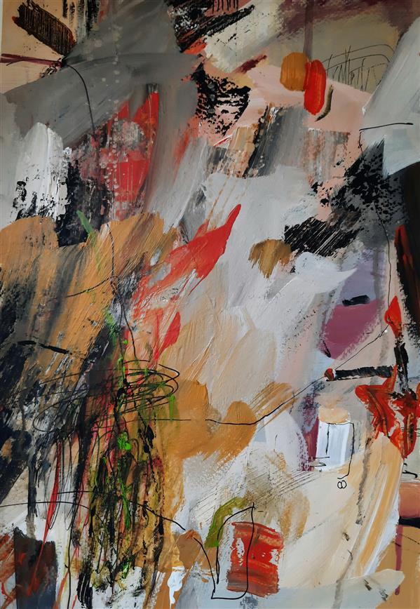 هنر نقاشی و گرافیک محفل نقاشی و گرافیک نگارخانه نگر نام هنرمند: مهین منفرد Mahin Monfared Acrylic on Cardboard