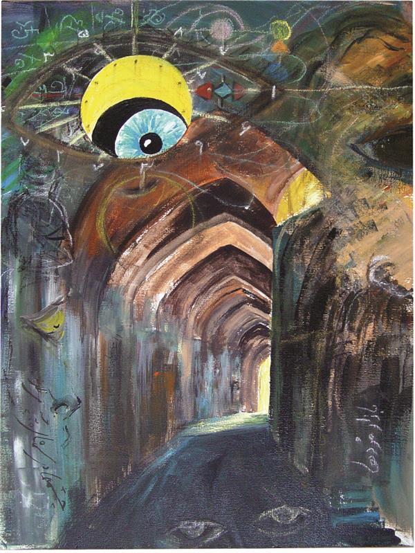 هنر نقاشی و گرافیک محفل نقاشی و گرافیک ALIREZA FARAMARZI بازار مرده ها در سمنان  اکرلیک و پاستل روی مقوا  32*46
