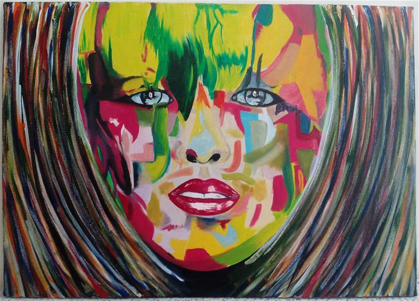 هنر نقاشی و گرافیک محفل نقاشی و گرافیک shaghayegh موضوع#پرتره سبک#انتزاعی تکنیک#رنگ_روغن#بوم ابعاد#50.70