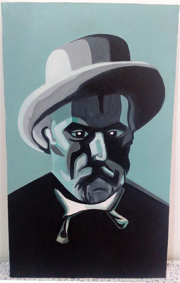 هنر نقاشی و گرافیک محفل نقاشی و گرافیک shaghayegh موضوع#پرتره سبک#انتزاعی تکنیک#رنگ روغن#بوم ابعاد#30.50