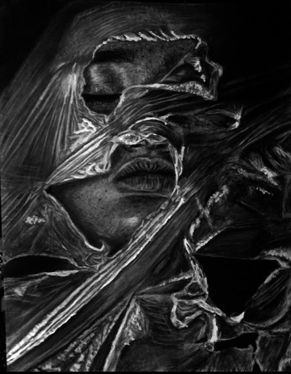 هنر نقاشی و گرافیک محفل نقاشی و گرافیک کارو این اثر بسیار زیبا و با معنی در سایز 40*50 و با تکنیک #سیاه_قلم به فروش میرسد.