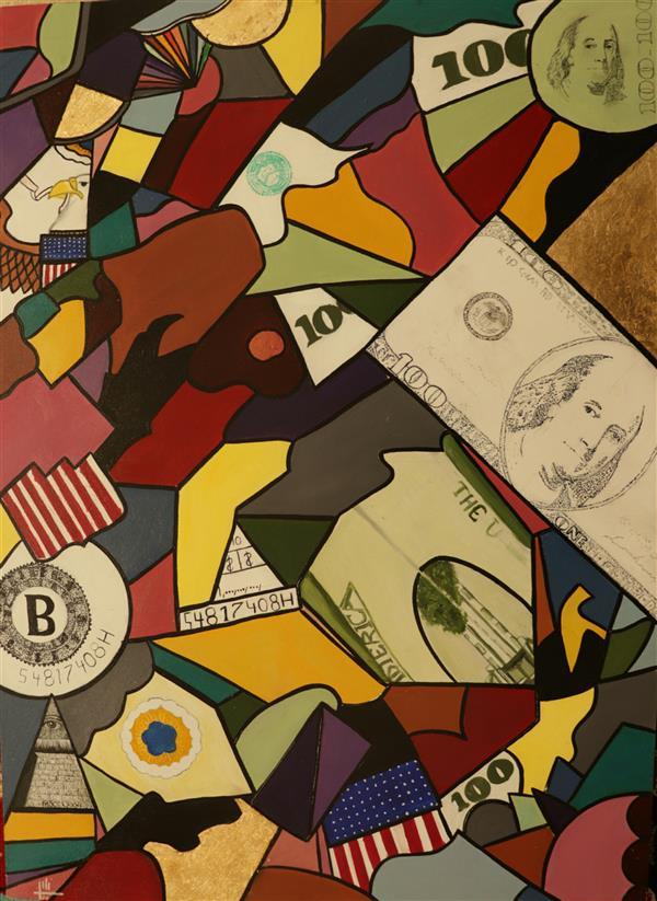 هنر نقاشی و گرافیک محفل نقاشی و گرافیک نگین بیگ محمدی متریال:رنگروغن  سایز:۵۰×۷۰ +ایده کار به روی بوم