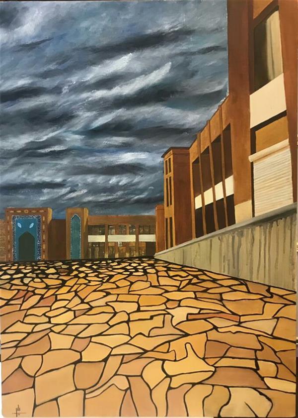 هنر نقاشی و گرافیک محفل نقاشی و گرافیک نگین بیگ محمدی #ایده سایز۵۰×۷۰ رنگ روغن روی بوم