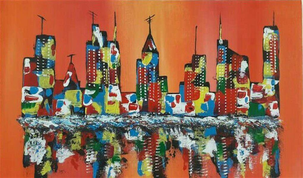 هنر نقاشی و گرافیک محفل نقاشی و گرافیک جمال ابراهیمی #آبستره ، اکریلیک روی بوم، ۵۰*۳۰