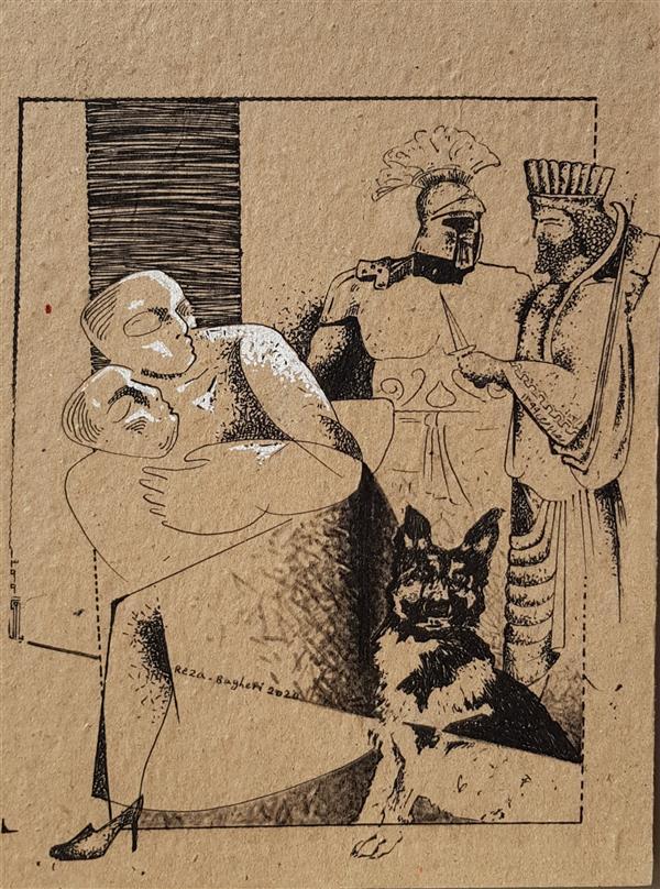 هنر نقاشی و گرافیک محفل نقاشی و گرافیک رضا باقری راپید روی کاغذ شاسی شده با پاسپارتو و قاب ۱۳۹۹ از مجموعه انقراض محمدرضا باقری