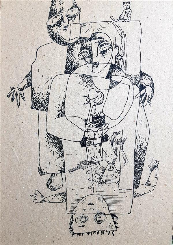 هنر نقاشی و گرافیک محفل نقاشی و گرافیک رضا باقری راپید روی کاغذ( شاسی شده با پاسپارتو و قاب)