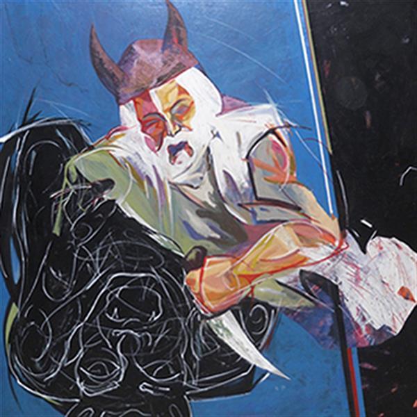 هنر نقاشی و گرافیک محفل نقاشی و گرافیک رضا باقری ارژنگ دیو اکرلیک روی بوم