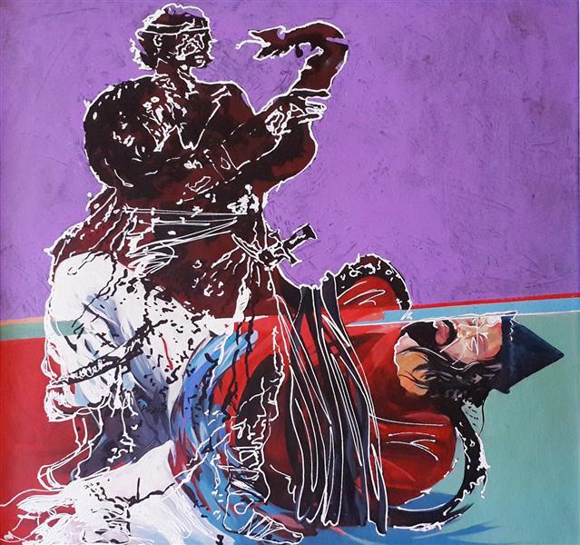 هنر نقاشی و گرافیک محفل نقاشی و گرافیک رضا باقری اکرلیک روی بوم ۱۳۹۱