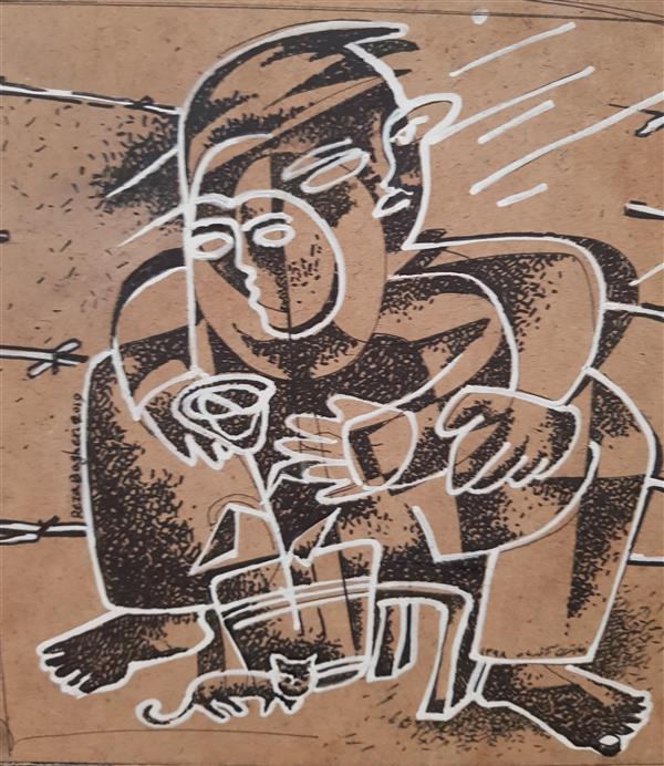 هنر نقاشی و گرافیک محفل نقاشی و گرافیک رضا باقری راپید و اکرلیک روی چوب ( ۴۰× ۵۰ با احتساب پاسپارتو و قاب)