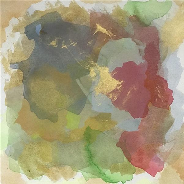 هنر نقاشی و گرافیک محفل نقاشی و گرافیک آرش قهقایی نقاشی #آبستره روی بوم ٤٠ در ٤٠ رنگ #اکریلیک  نام اثر ابروباد