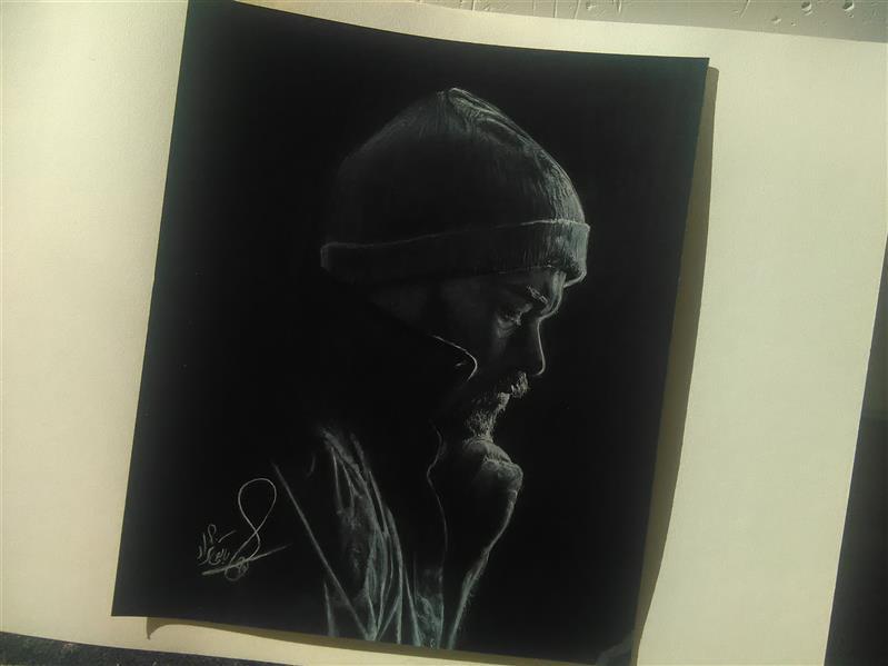 هنر نقاشی و گرافیک محفل نقاشی و گرافیک کوثر سابقی نژاد 25*35 تکنیک:کنته سفید