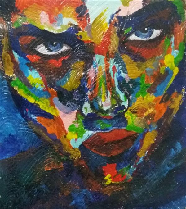 هنر نقاشی و گرافیک محفل نقاشی و گرافیک فاطمه بلند #گواش-برجسته #کاردونفری-من-فاطمه-مه-آبادی #سایز-a3 #قاب-شده