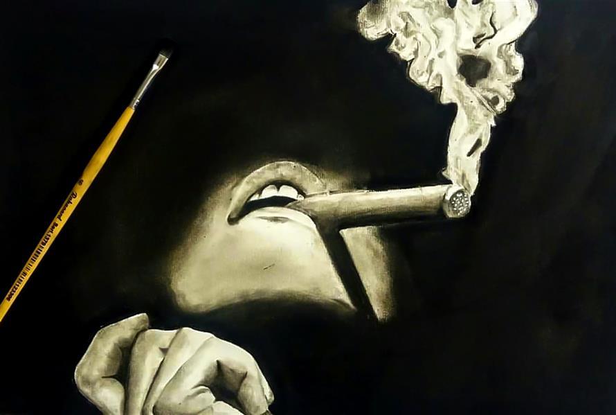 هنر نقاشی و گرافیک محفل نقاشی و گرافیک معصومه سادات فاطمی #سیاه قلم #سیاه وسفید 35در38