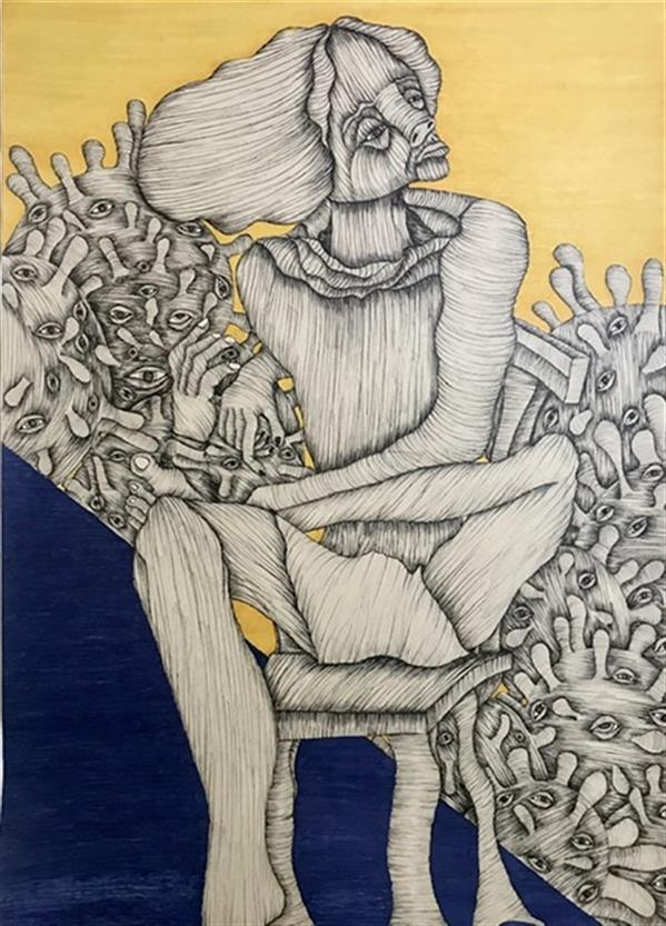 هنر نقاشی و گرافیک محفل نقاشی و گرافیک مانیا جلالی فراهانی در عزاي يك فرشته  مقوا، راپيد و ماژيك