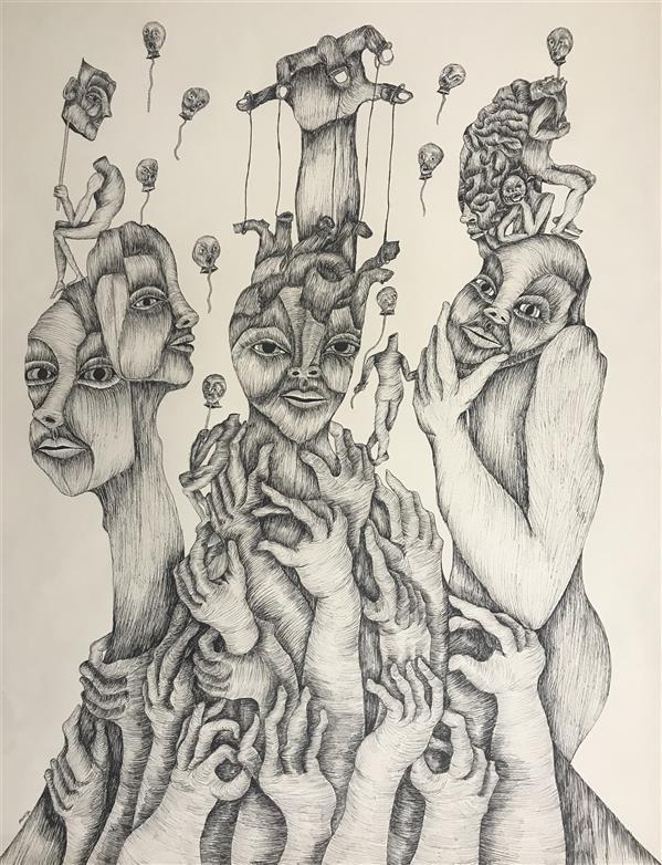 هنر نقاشی و گرافیک محفل نقاشی و گرافیک مانیا جلالی فراهانی نام اثر: دستهای مدفون ابعاد: 50*70 مقوا و راپید