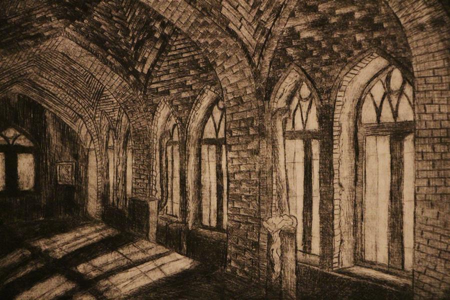هنر نقاشی و گرافیک محفل نقاشی و گرافیک بهناز ابراهیمی تکنیک:چاپ فلز ابعاد:14×18