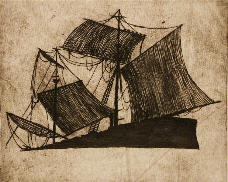 هنر نقاشی و گرافیک محفل نقاشی و گرافیک بهناز ابراهیمی کشتی تکنیک:چاپ فلز ابعاد:11×13