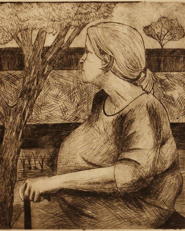 هنر نقاشی و گرافیک محفل نقاشی و گرافیک بهناز ابراهیمی مادربزرگ تکنیک:چاپ فلز ابعاد:15×18