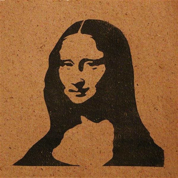 هنر نقاشی و گرافیک محفل نقاشی و گرافیک بهناز ابراهیمی مونالیزا تکنیک:چاپ لینولئوم ابعاد:13×14