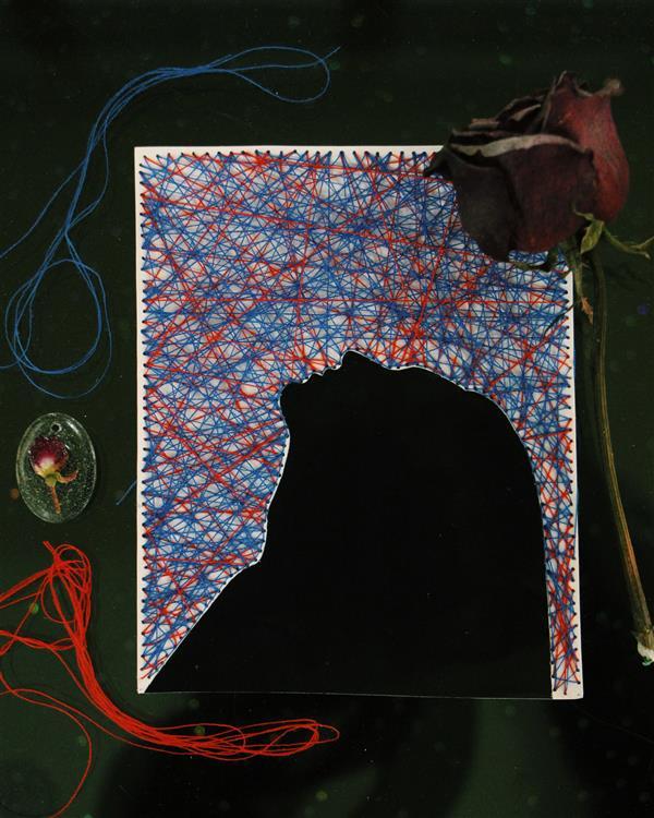 هنر نقاشی و گرافیک محفل نقاشی و گرافیک بهناز ابراهیمی کنده کاری روی عکس به همراه نخ ابعاد:10×12