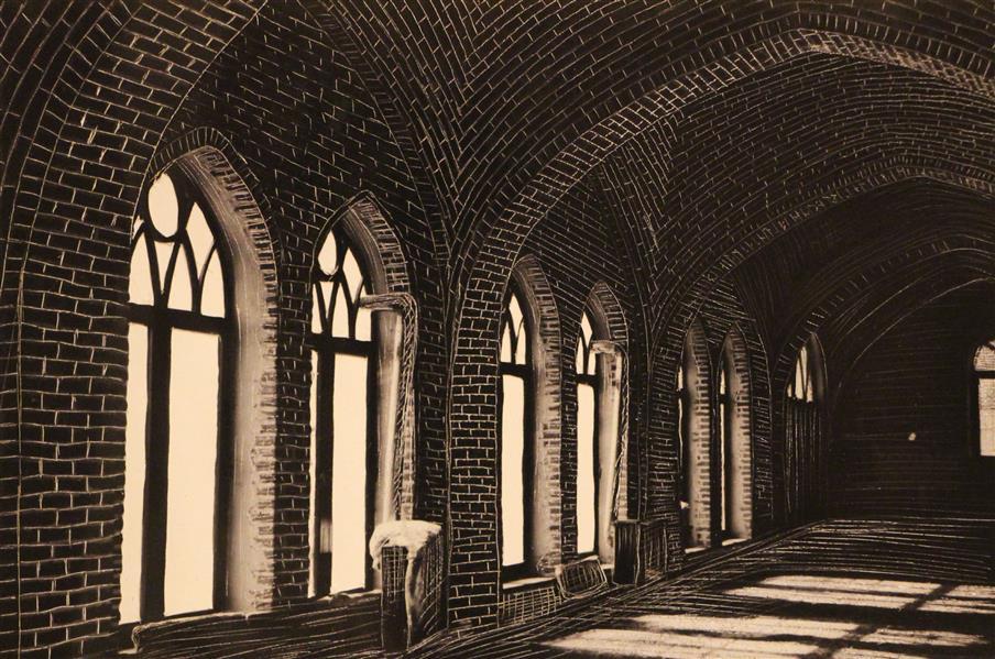 هنر نقاشی و گرافیک محفل نقاشی و گرافیک بهناز ابراهیمی خراش و کنده کاری روی عکس ابعاد:10×15