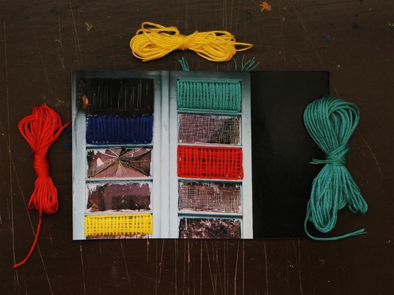 هنر نقاشی و گرافیک محفل نقاشی و گرافیک بهناز ابراهیمی پنجره تکنیک:خراش روی عکس با ترکیب نخ ابعاد:10×15