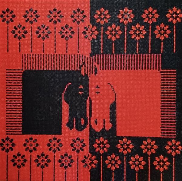 هنر نقاشی و گرافیک محفل نقاشی و گرافیک پروین فتاحی زاده  نام اثر :سرخ وسیاه تکنیک :اکرولیک روی بوم قطع :70 ×70